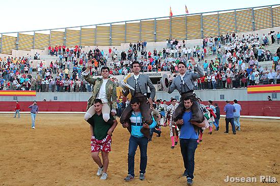 Exhibición del mejor toreo a caballo en Almodóvar del Campo